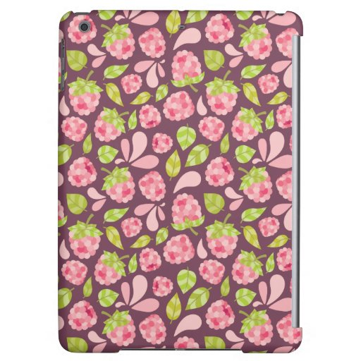 Raspberry Boom Seamless Surface Pattern Design Case For iPad Air