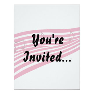 Raspberry Boulevard Striped Music Logo Card