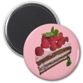 Raspberry Cake Magnet