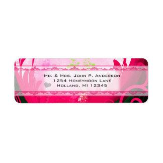 Raspberry Calla Lily Label