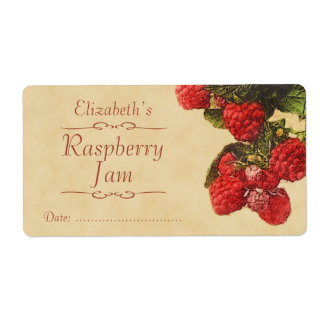 Raspberry Canning label