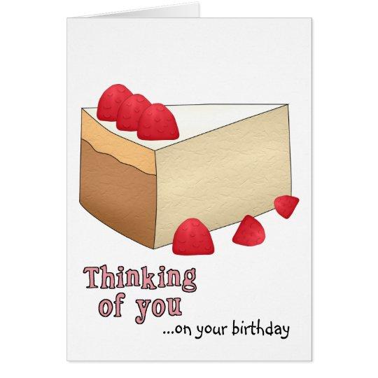 Raspberry Cheesecake Birthday Card