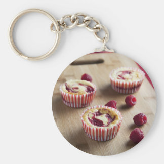 Raspberry Cheesecakes Keychain