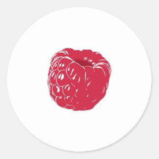 Raspberry: Classic Round Sticker