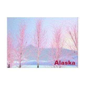 Raspberry Creme Birch Canvas Print
