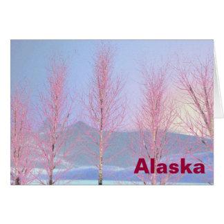 Raspberry Creme Birch Greeting Card