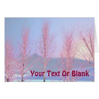 Raspberry Creme Birch Greeting Cards
