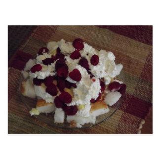 Raspberry Dessert Postcard