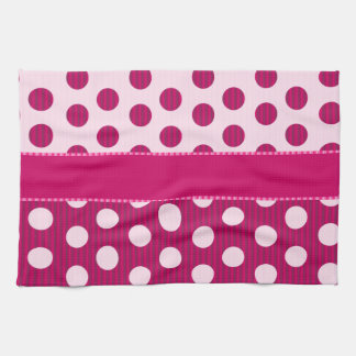 Raspberry Dots Kitchen Towel