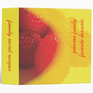 Raspberry, family secret recipes book binder
