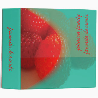 Raspberry, favorite dessert recipes book 3 ring binder