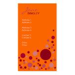 Raspberry Fizz Retro Dots Business Card