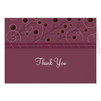 Raspberry Floral Thank You Card