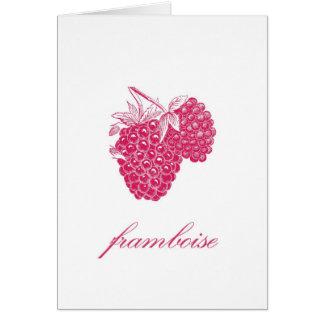 Raspberry (Framboise) Notecard Greeting Cards