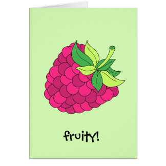 Raspberry Fruit Card