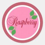 Raspberry Fruit Label Sticker