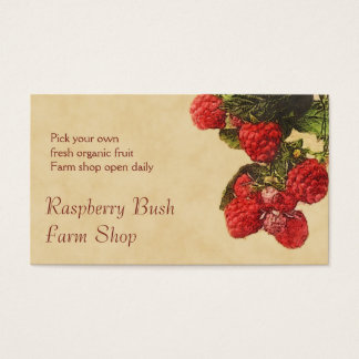 Raspberry fruit sales business card