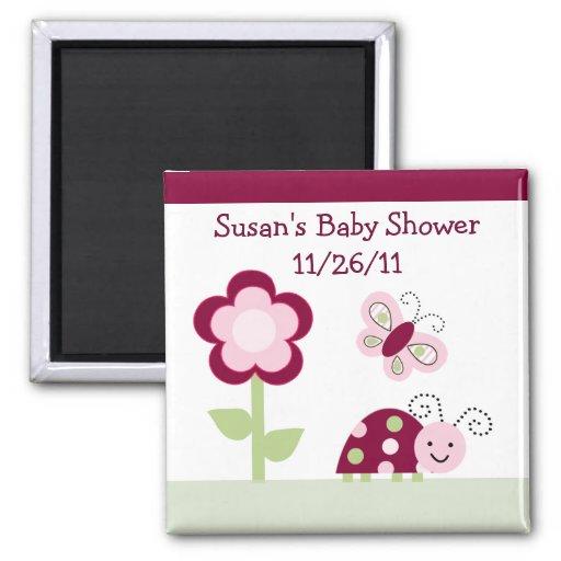 Raspberry Garden/ Ladybug Baby Shower Magnet