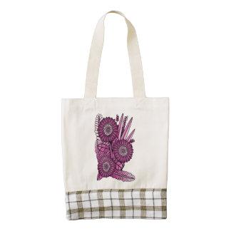 Raspberry Gerbera Daisy Flower Bouquet Zazzle HEART Tote Bag