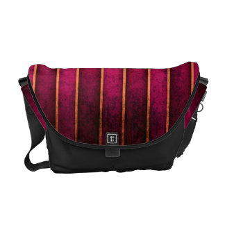 Raspberry Gold Stripe Modern Hot Bag Tote Purse Courier Bag
