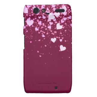 Raspberry hearts case-mate case droid RAZR cover