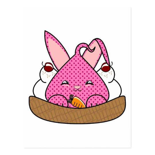 Raspberry Hopdrop Waffle Sundae Postcard
