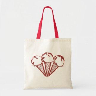 Raspberry Ice Cream tote bag