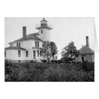 Raspberry Island Lighthouse Greeting Card