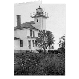 Raspberry Island Lighthouse Card