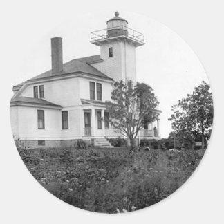 Raspberry Island Lighthouse Classic Round Sticker