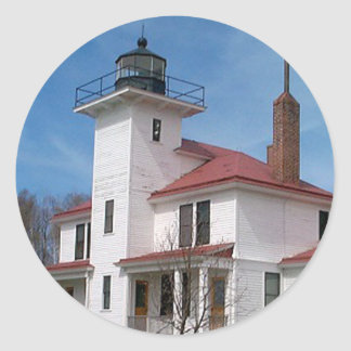 Raspberry Island Lighthouse (in Color) Classic Round Sticker