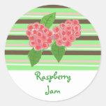 Raspberry Jam Round Sticker