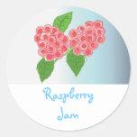 Raspberry Jam Round Stickers