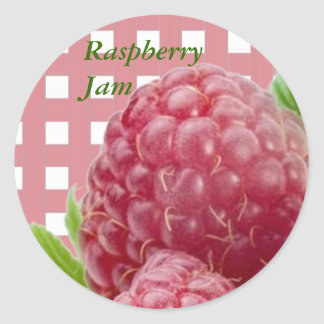 Raspberry Label Sticker