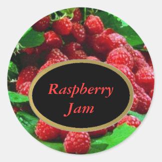 Raspberry Labels Round Sticker