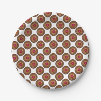 Raspberry Linzer Torte Christmas Cookie Plates 7 Inch Paper Plate