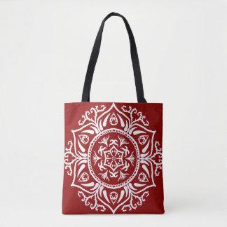 Raspberry Mandala Tote Bag