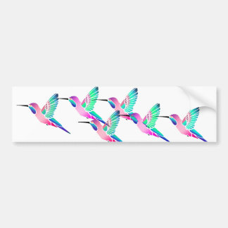 Raspberry Mint Sorbet Hummingbirds Bumper Sticker