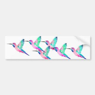Raspberry Mint Sorbet Hummingbirds Car Bumper Sticker