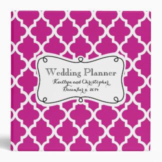 Raspberry Moroccan Wedding Planner 3 Ring Binder