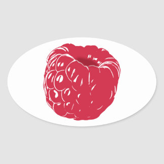 Raspberry: Oval Sticker