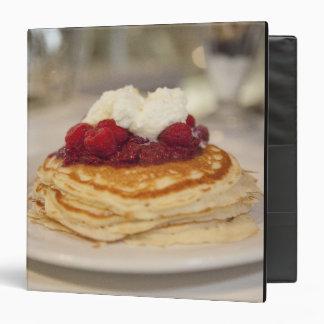 Raspberry pancakes 3 ring binder