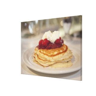 Raspberry pancakes canvas print