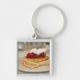 Raspberry pancakes keychain