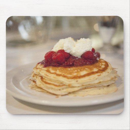 Raspberry pancakes mouse pad