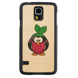 Raspberry Penguin Toony Drawing Carved® Maple Galaxy S5 Case
