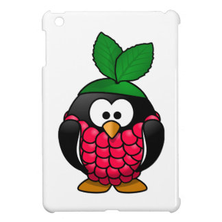 Raspberry Penguin Toony Drawing iPad Mini Cover