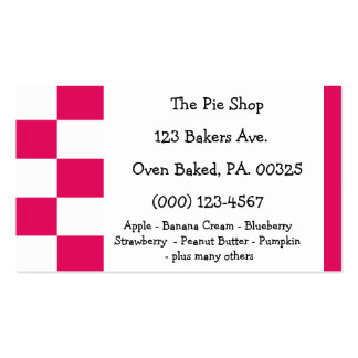 Raspberry Pie Colors Double-Sided Standard Business Cards (Pack Of 100)