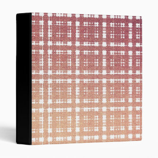 Raspberry Pink Blush Modern Plaid Netted Ombra 3 Ring Binder