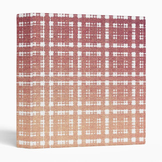Raspberry Pink Blush Modern Plaid Netted Ombra Binder